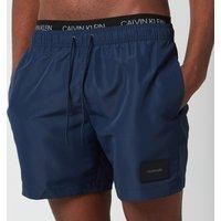 Calvin Klein Men's Double Waistband Swim Shorts - Black Iris - S