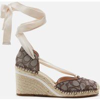 Coach Women's Carmen Jacquard Wedged Espadrilles - Oak - UK 6