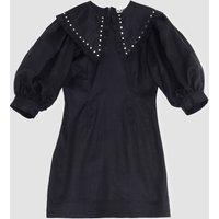 Ganni Women's Light Linen Mini Dress - Phanthom - EU 40/UK 12