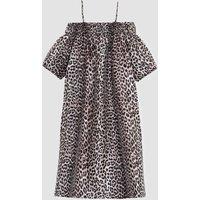 Ganni Women's Crispy Jacquard Midi Dress - Phantom - XXS/XS
