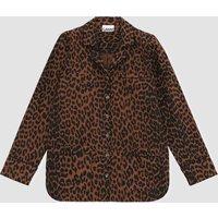 Ganni Women's Printed Cotton Poplin Shirt - Toffee - EU 36/UK 8