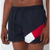 Tommy Hilfiger Men's Short Length Drawstring Swimshorts - Desert Sky - XL