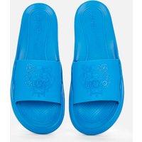 KENZO Men's Tiger Pool Slide Sandals - Cyan - UK 7