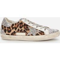 Golden Goose Deluxe Brand Women's Superstar Horsy Leopard Print Trainers - Silver/Brown/Black - UK 3
