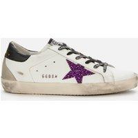 Golden Goose Deluxe Brand Women's Superstar Leather Trainers - White/Purple/Black - UK 7