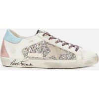 Golden Goose Deluxe Brand Women's Superstar Leather Trainers - Silver/White/Ice - UK 6