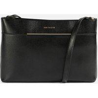 Ted Baker Women's Golnaz Saffiano Bar Detail Cross Body Bag - Black