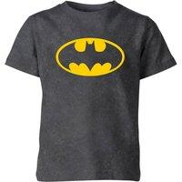 Batman Logo Kids' T-Shirt - Black Acid Wash - 5-6 Years - Black Acid Wash