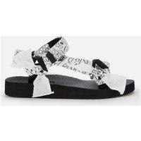 Arizona Love Women's Trekky Fabric Sandals - Vichy Black/White - UK 6
