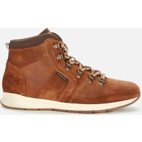 Barbour Men's Mills Suede Hiking Style Boots - Rust - UK 8