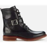 Barbour Womens Tasmin Leather Lace Up Boots - Black - UK 4