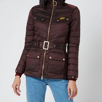 Barbour International Womens Gleann Quilt Coat - Cocoa - UK 12