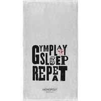 Monopoly Gym Play Sleep Repeat - Fitness Towel