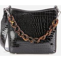 shop for HVISK Women's Amble Croco Small Shoulder Bag - Black at Shopo