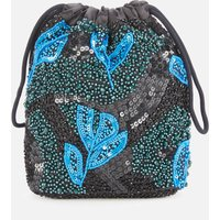 shop for HVISK Women's Gallery Beaded Pouch - Blue/Black at Shopo