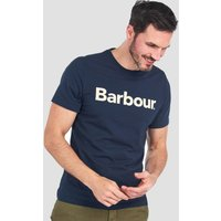 Barbour Mens Logo T-Shirt - New Navy - S