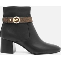MICHAEL MICHAEL KORS Women's Abigail Flex Leather Heeled Boots - Black/Brown - UK 6