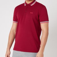 BOSS Athleisure Mens Paddy Pique Polo Shirt - Dark Red - L