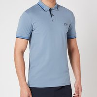 BOSS Athleisure Men's Paul Curved Logo Polo Shirt - Silver - S