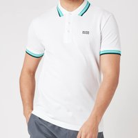 BOSS Athleisure Mens Paddy Pique Polo Shirt - White - L