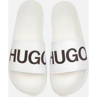 HUGO Men's Match Slide Sandals - Open White - UK 10