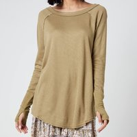 Free People Women's Snowy Thermal Top - Sunstone - M
