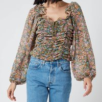 Free People Women's Mabel Printed Blouse - Garden Combo - L