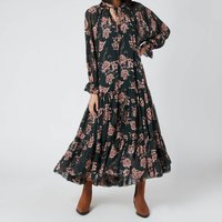Free People Womens Feeling Groovy Maxi Dress - Forest Combo - M