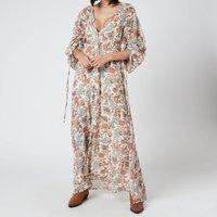 Free People Womens Earthfolk Maxi Dress - Tea Combo - XS