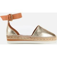 See By Chloe Women's Glyn Leather Espadrilles - Gold - UK 3