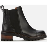 See By Chloe Women's Mallory Leather Chelsea Boots - Black - UK 5