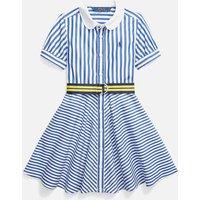 Polo Ralph Lauren Girls' Oxford Shirt-Dress - Blue - 10 Years