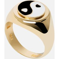 Wilhelmina Garcia Women's Yin/Yang Ring - Gold/Black/White - EU 52
