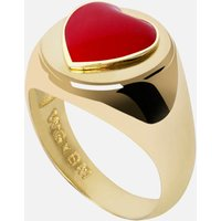Wilhelmina Garcia Women's Heart Ring - Gold - EU 50