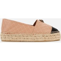 Kurt Geiger London Women's Morella Eagle Leather Espadrilles - Camel - UK 6