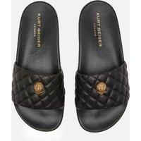 Kurt Geiger London Women's Meena Eagle Slide Sandals - Black - UK 4