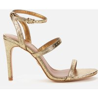 Kurt Geiger London Women's Portia Leather Heeled Sandals - Gold Comb - UK 8