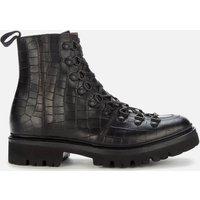 Grenson Women's Nanette Croc Print Hiking Style Boots - Black - UK 5