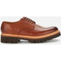 Grenson Men's Curt Leather Derby Shoes - Washed Walnut - UK 11