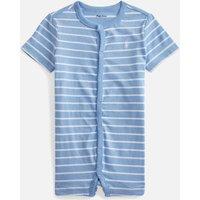 Polo Ralph Lauren Boys' Jersey Shortall Romper - Blue Lagoon Multi - 6 Months