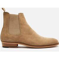 Walk London Men's Michael Suede Chelsea Boots - Stone - UK 11
