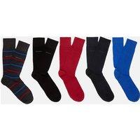BOSS Men's Gift Boxed Five Pack Socks - Multi