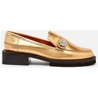 Ganni Women's Metallic Leather Loafers - Gold - UK 4