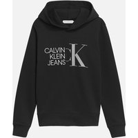 Calvin Klein Jeans Boy's Hybrid Logo Hoodie - Black - 6 Years