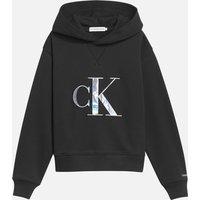 Calvin Klein Jeans Girl's Monogram Applique Hoodie - Black - 6 Years