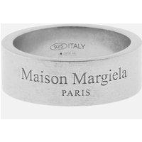 Maison Margiela Men's Palladio Semi Polished Ring - Silver - M