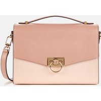 MICHAEL Michael Kors Womens Hendrix Medium Messenger Bag - Soft Pink/Fawn