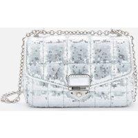 MICHAEL Michael Kors Womens Soho Small Chain Shoulder Bag - Silver