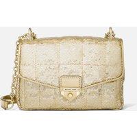 MICHAEL Michael Kors Womens Soho Small Chain Shoulder Bag - Pale Gold