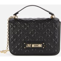 Love Moschino Womens Quilted Classic Bag - Black